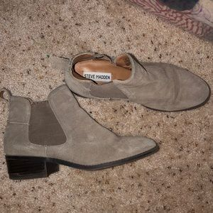 Taupe Steve Madden Booties